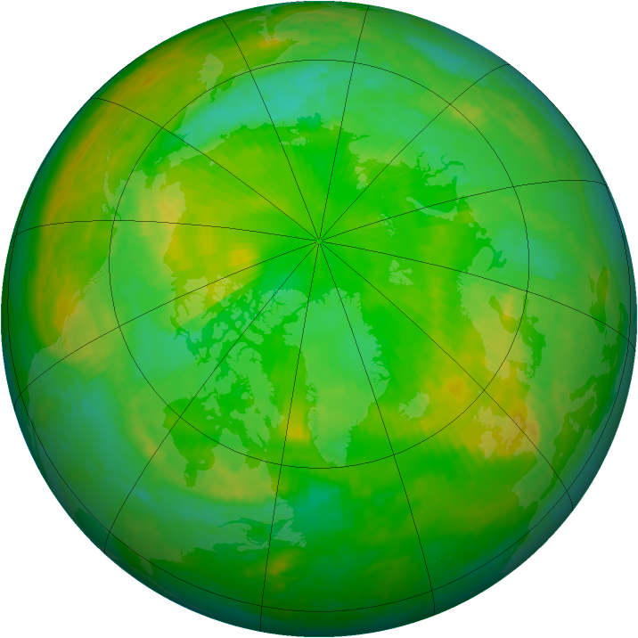 Arctic ozone map for 03 July 2002