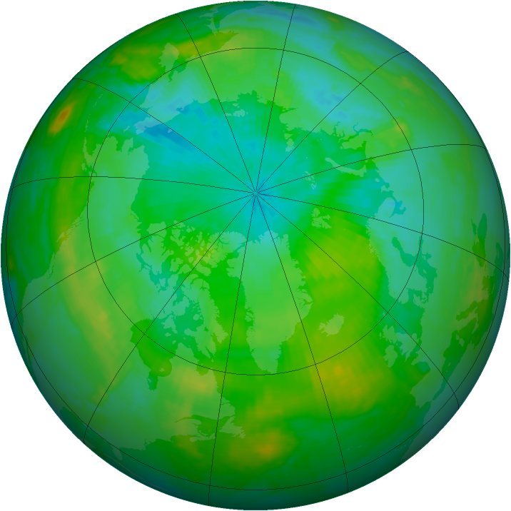 Arctic ozone map for 29 July 2002