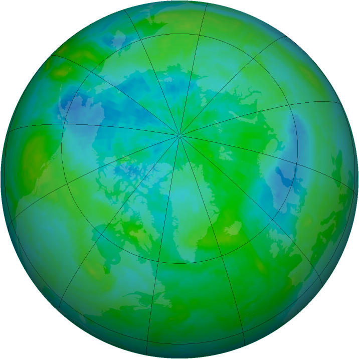 Arctic ozone map for 03 September 2002