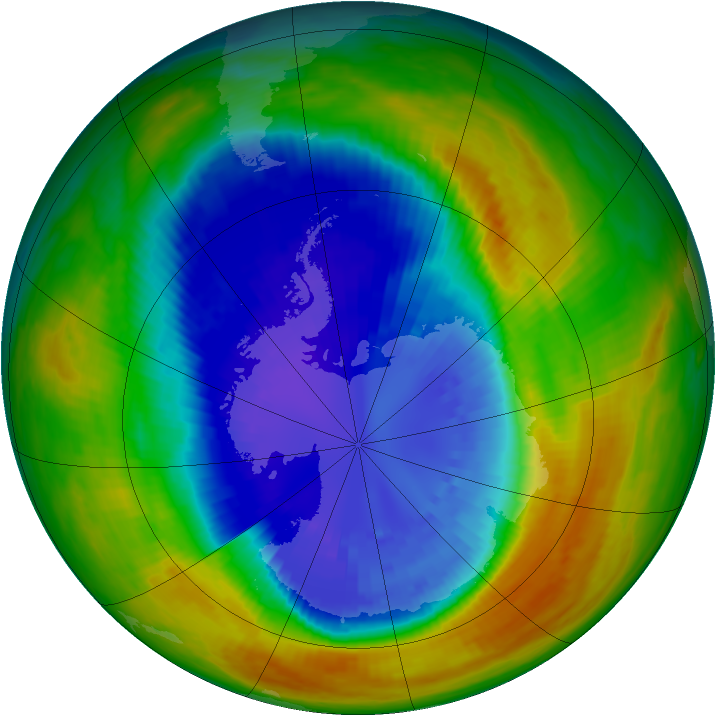Antarctic ozone map for 09 September 2002