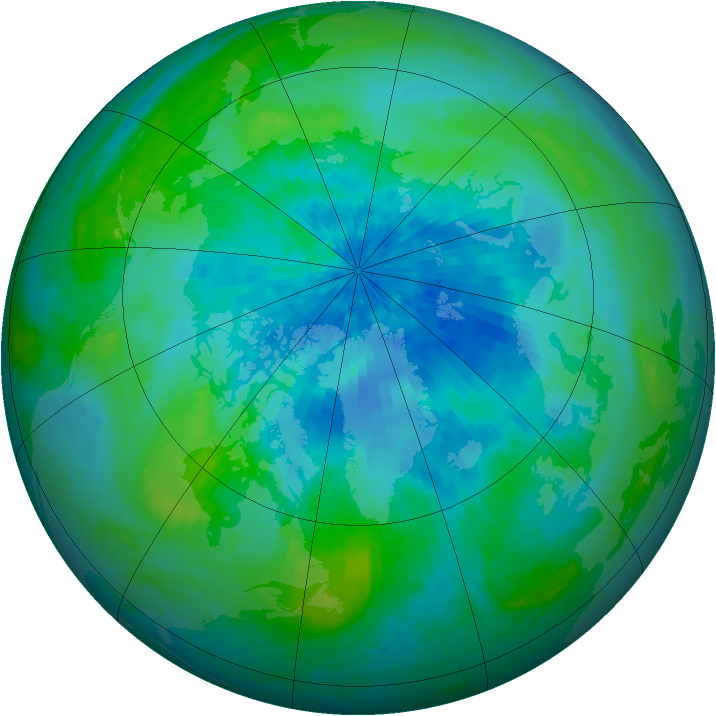 Arctic ozone map for 14 September 2002