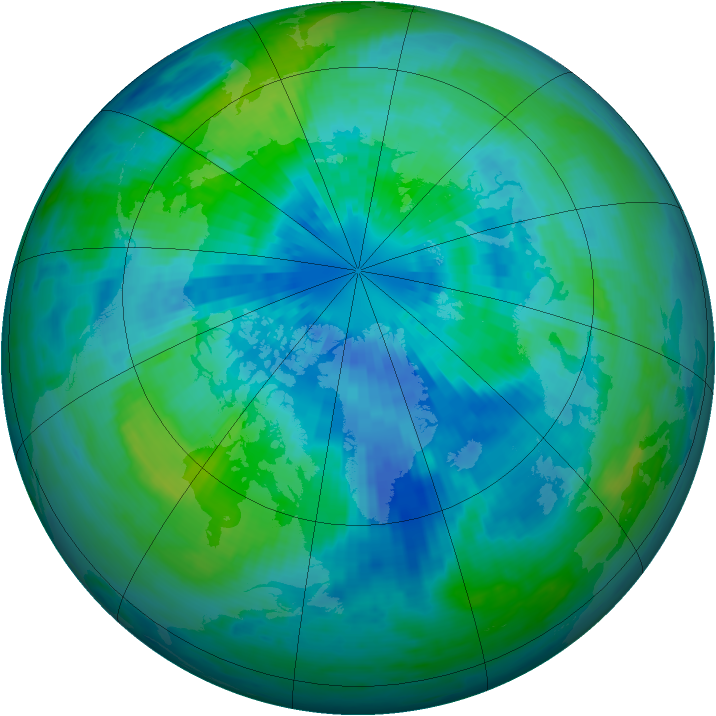 Arctic ozone map for 24 September 2002