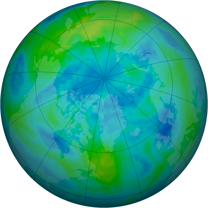 Arctic ozone map for 30 September 2002