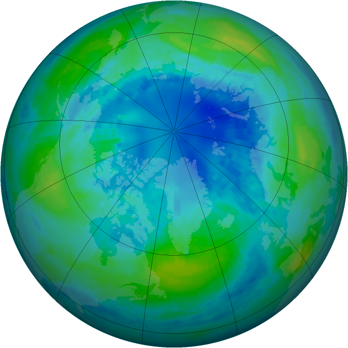 Arctic ozone map for 10 October 2002