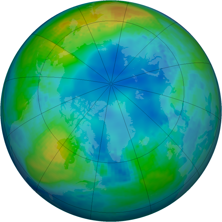 Arctic ozone map for 12 November 2002