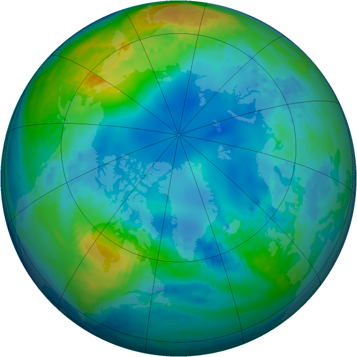 Arctic ozone map for 13 November 2002