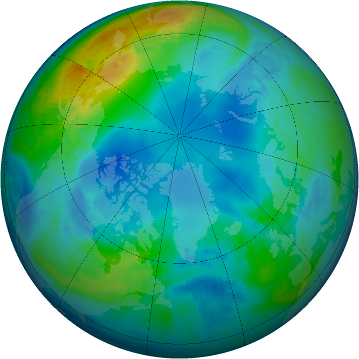 Arctic ozone map for 15 November 2002