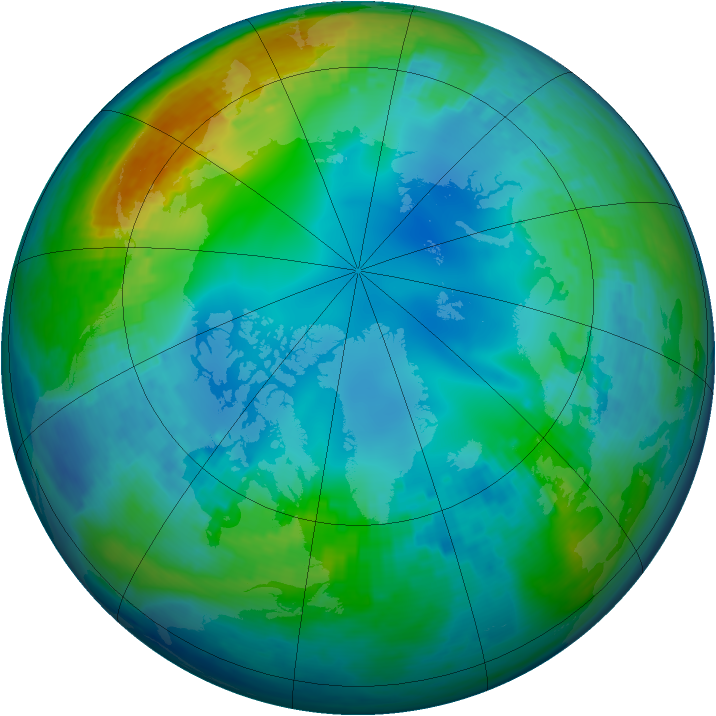 Arctic ozone map for 16 November 2002