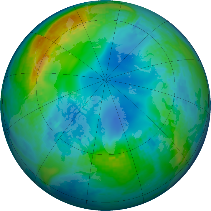 Arctic ozone map for 17 November 2002