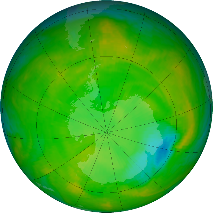 Antarctic ozone map for 21 November 2002