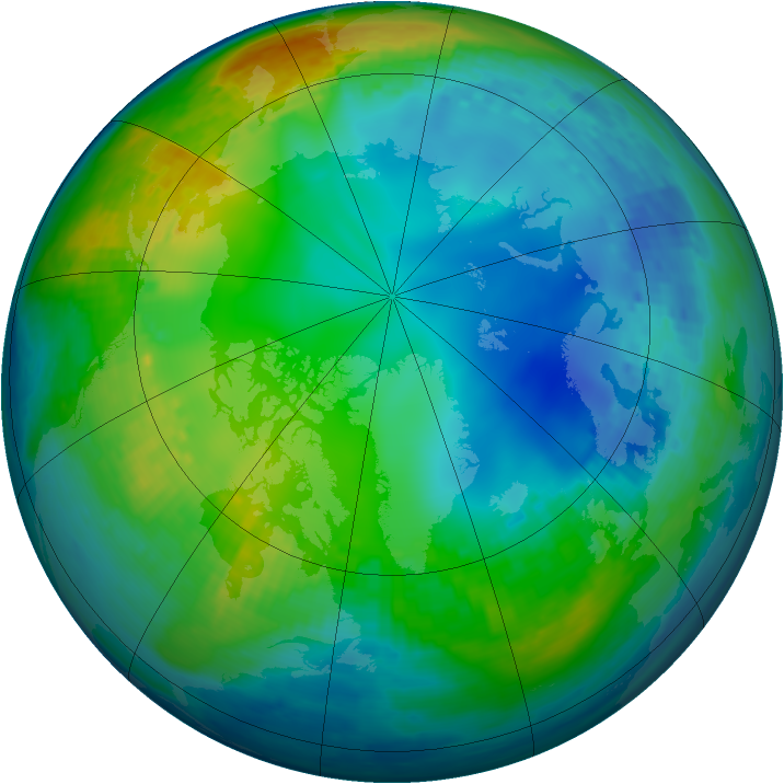 Arctic ozone map for 22 November 2002