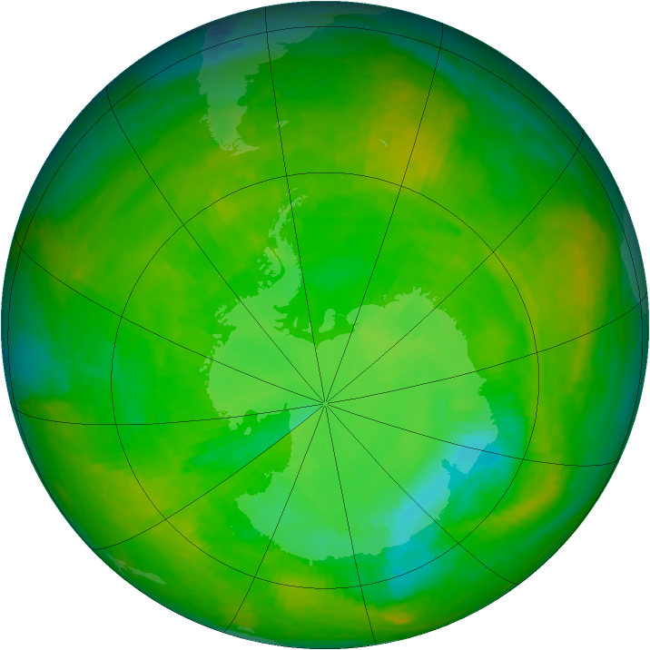 Antarctic ozone map for 22 November 2002