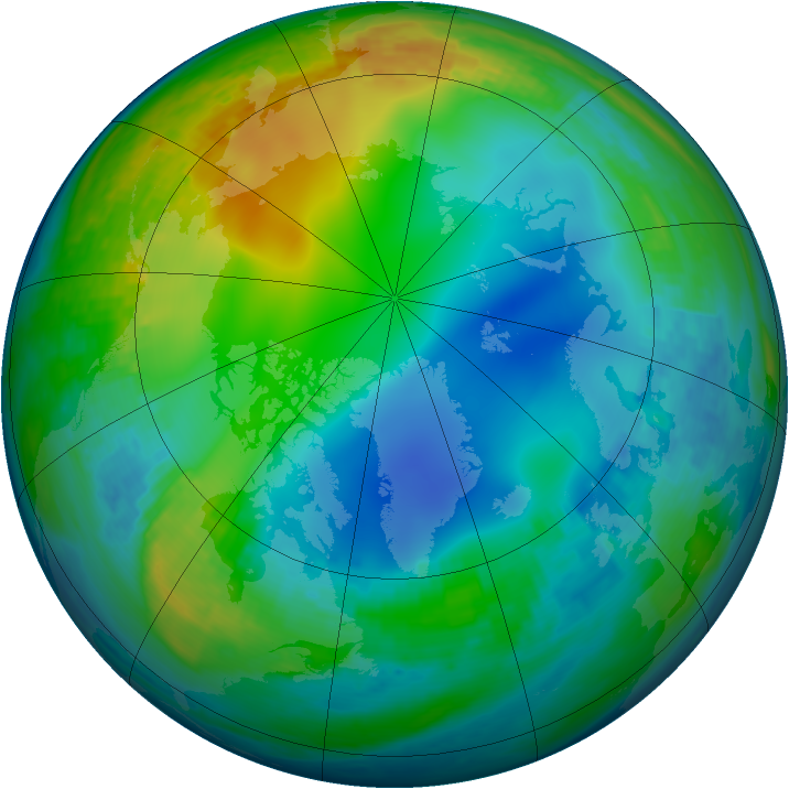 Arctic ozone map for 30 November 2002