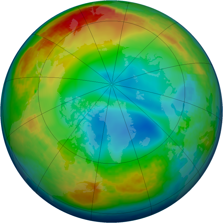 Arctic ozone map for 29 December 2002