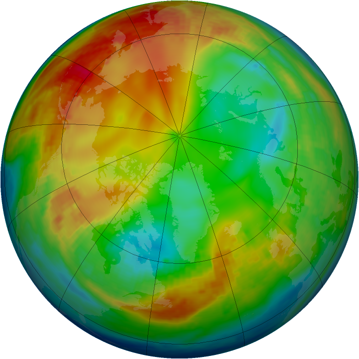 Arctic ozone map for 21 January 2003