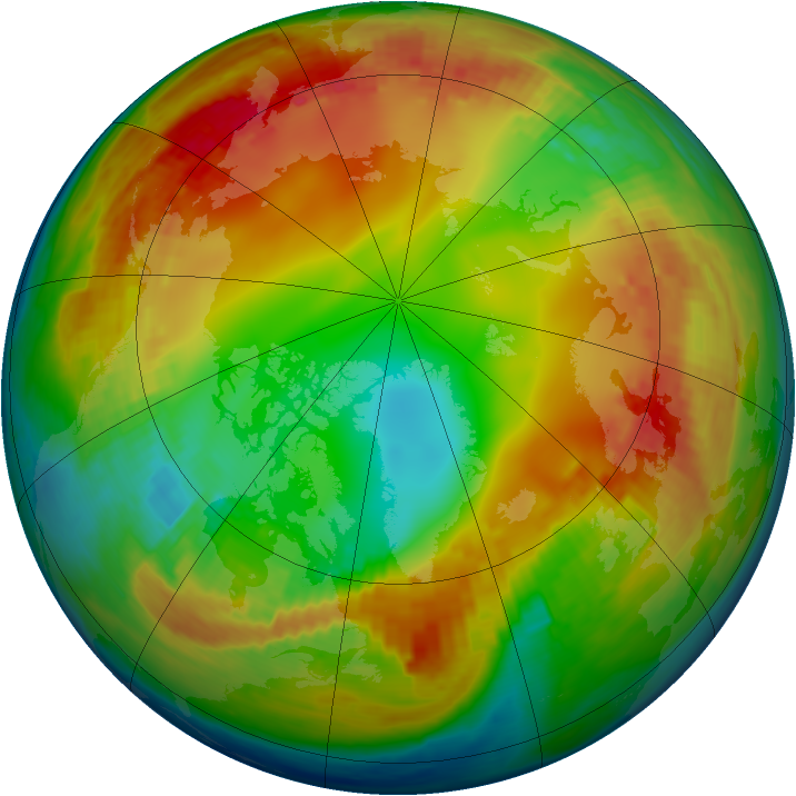 Arctic ozone map for 26 January 2003