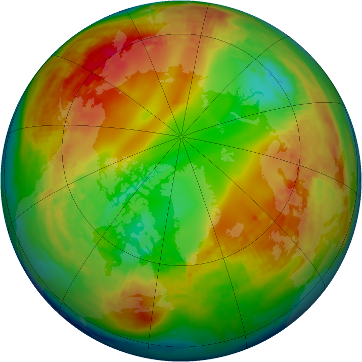 Arctic ozone map for 28 January 2003