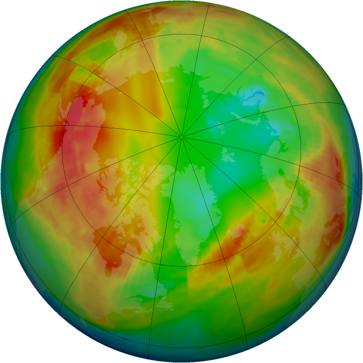 Arctic ozone map for 01 February 2003