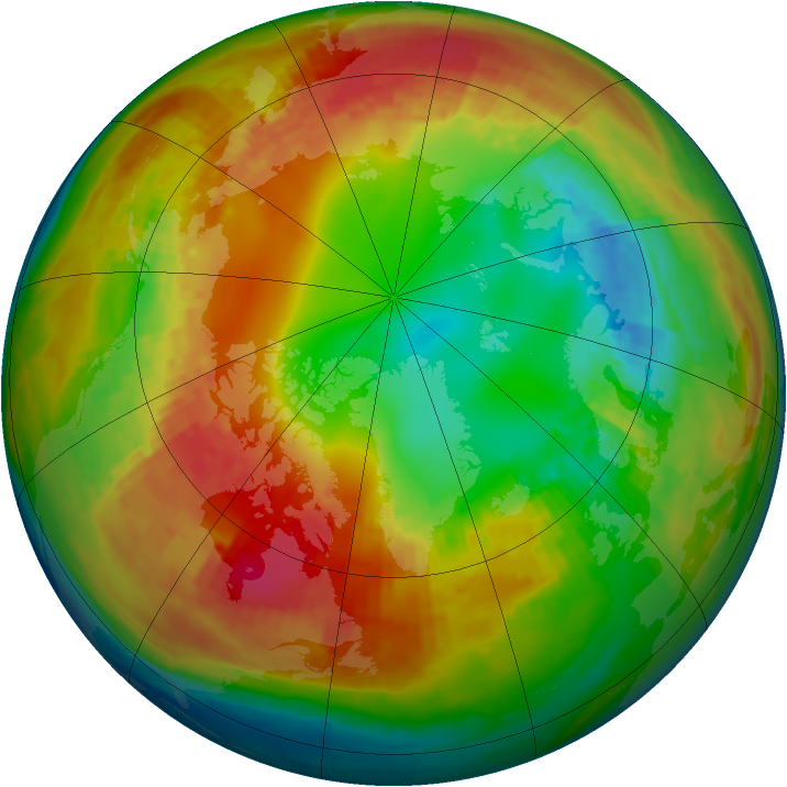 Arctic ozone map for 10 February 2003