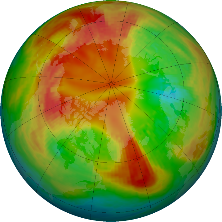 Arctic ozone map for 18 February 2003