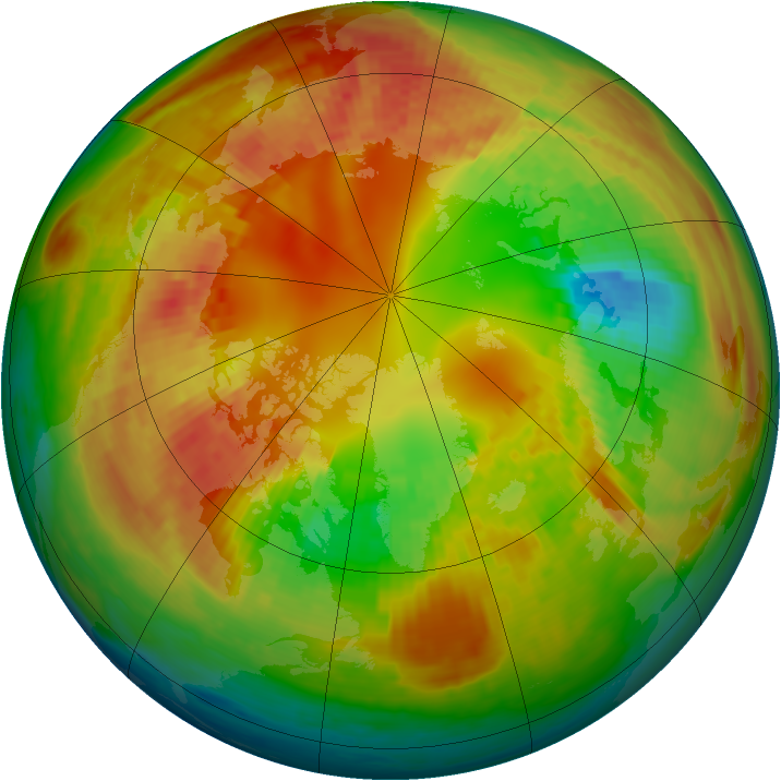 Arctic ozone map for 21 February 2003