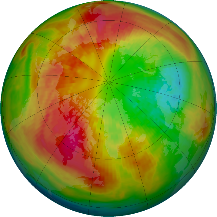 Arctic ozone map for 04 March 2003