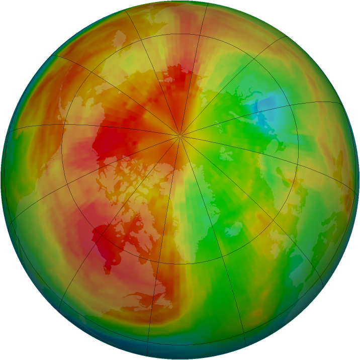 Arctic ozone map for 11 March 2003