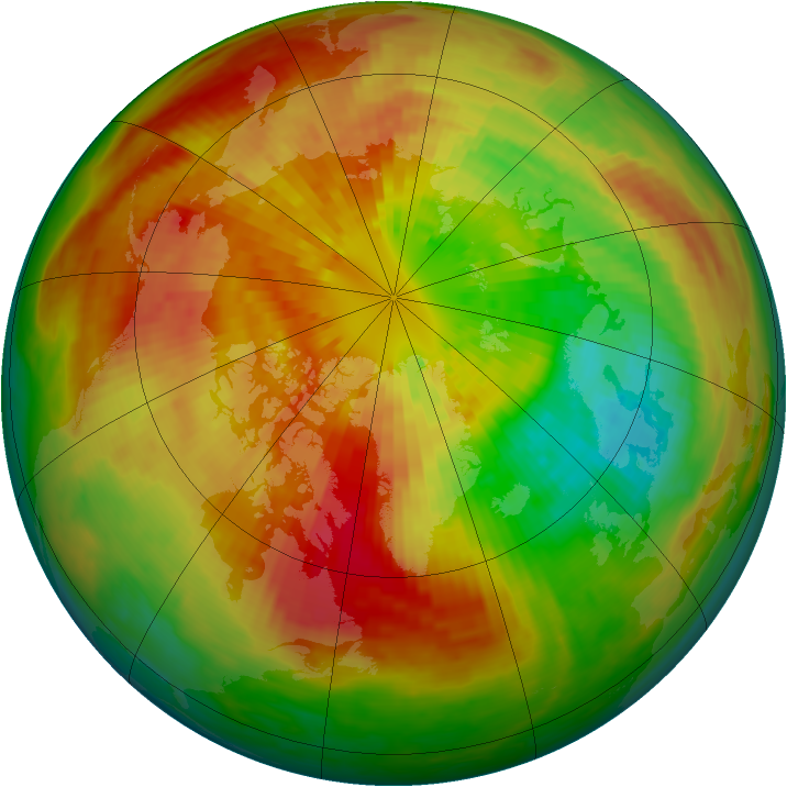 Arctic ozone map for 18 March 2003