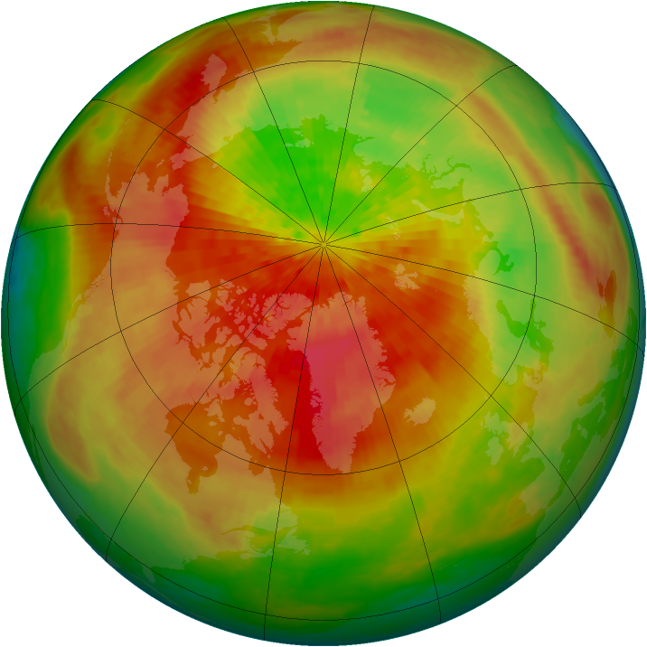 Arctic ozone map for 27 March 2003