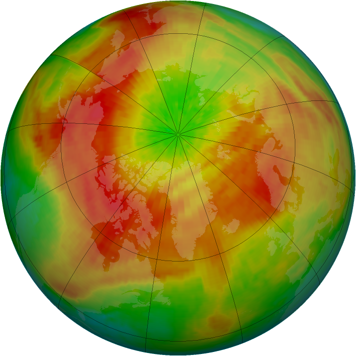 Arctic ozone map for 30 March 2003