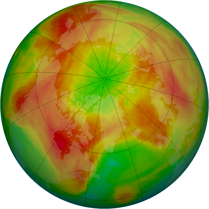 Arctic ozone map for 01 April 2003