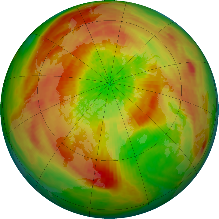 Arctic ozone map for 04 April 2003