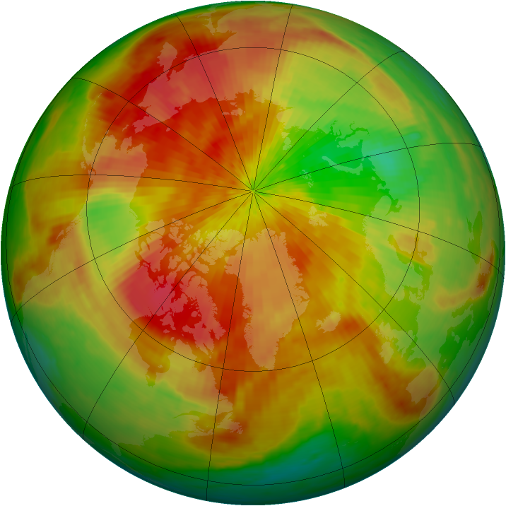 Arctic ozone map for 14 April 2003