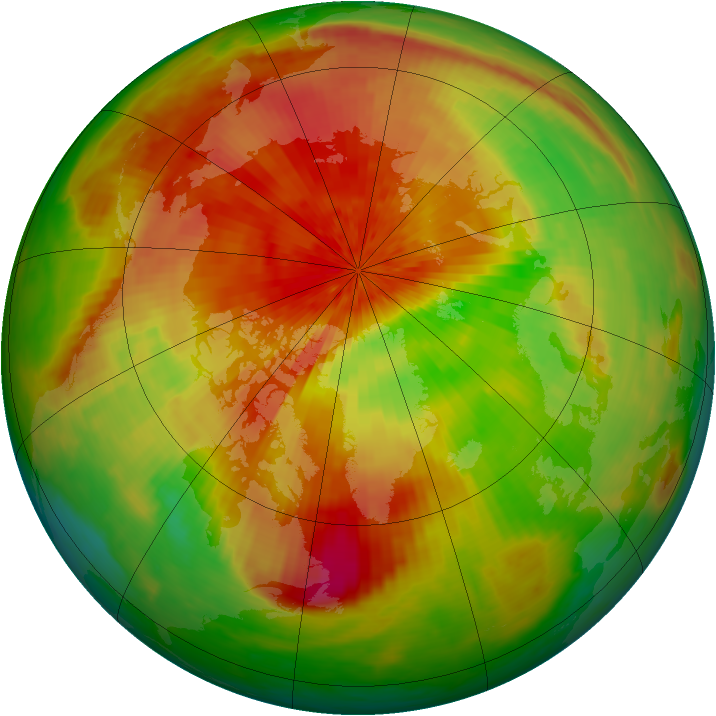 Arctic ozone map for 17 April 2003