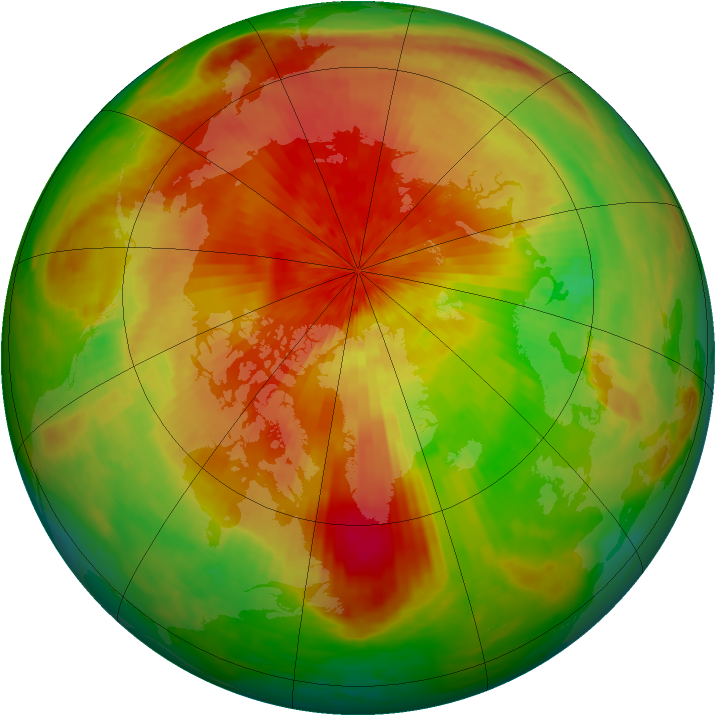 Arctic ozone map for 18 April 2003