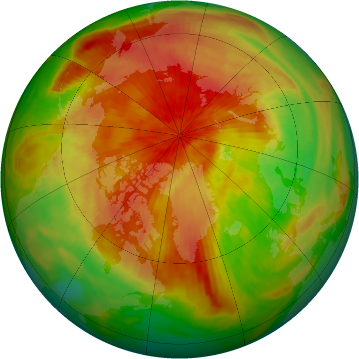 Arctic ozone map for 19 April 2003