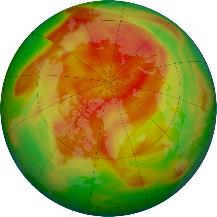 Arctic ozone map for 22 April 2003