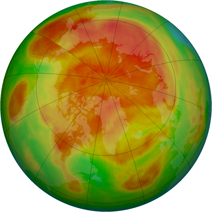 Arctic ozone map for 24 April 2003