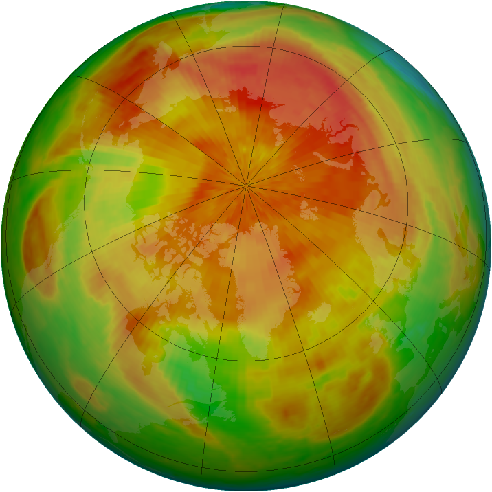 Arctic ozone map for 25 April 2003