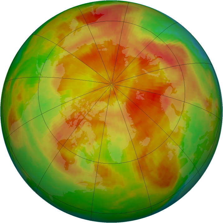 Arctic ozone map for 29 April 2003