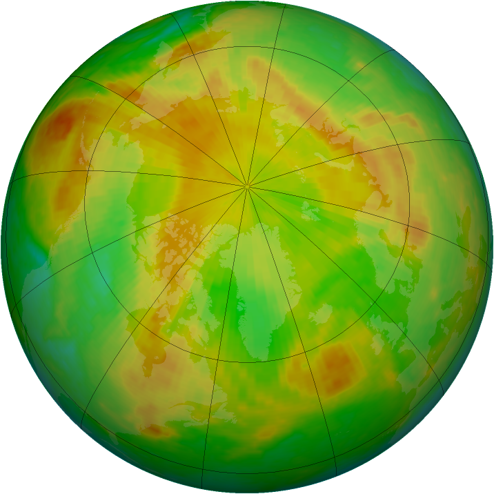 Arctic ozone map for 01 June 2003