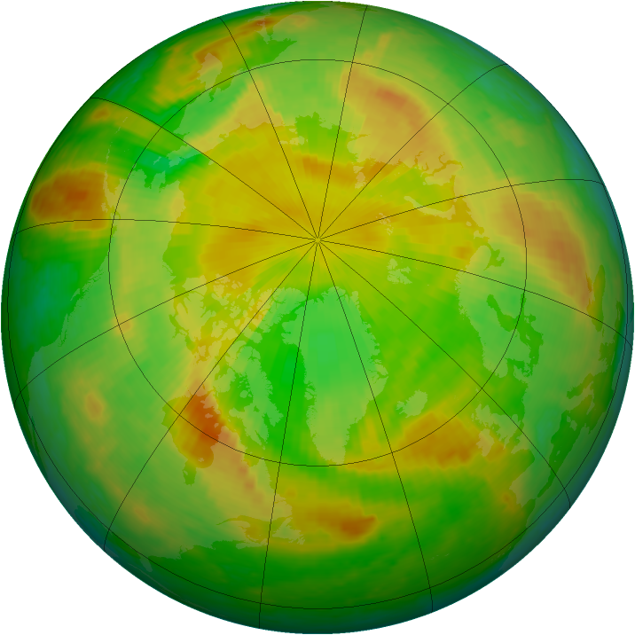 Arctic ozone map for 04 June 2003