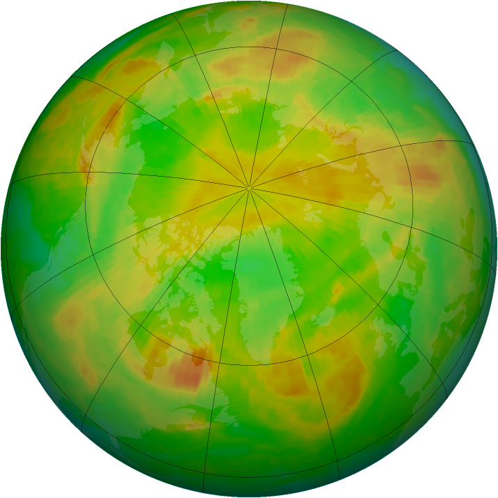 Arctic ozone map for 06 June 2003
