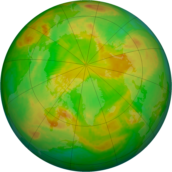 Arctic ozone map for 08 June 2003