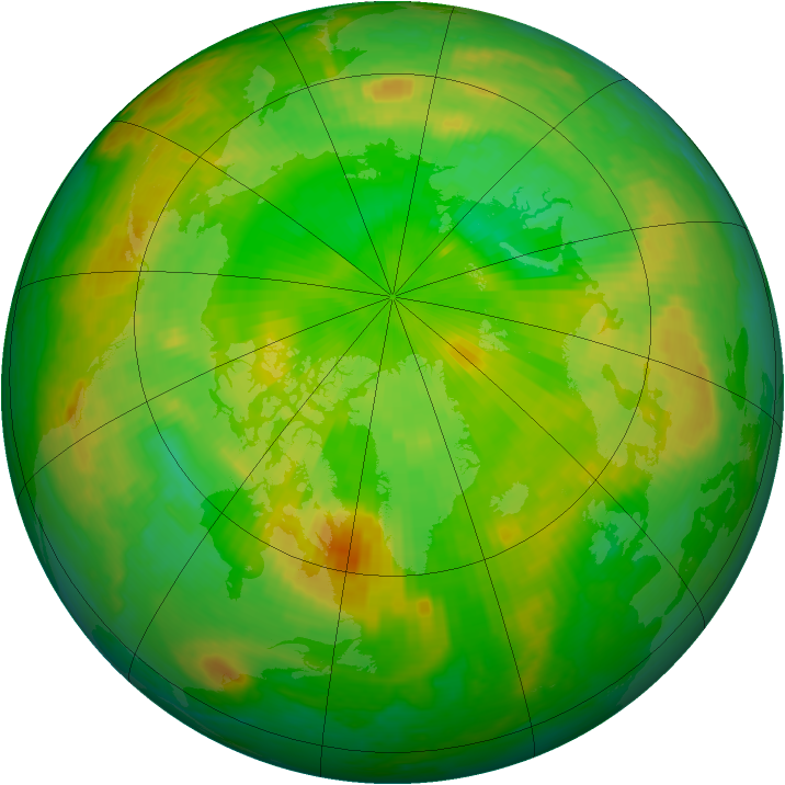 Arctic ozone map for 21 June 2003