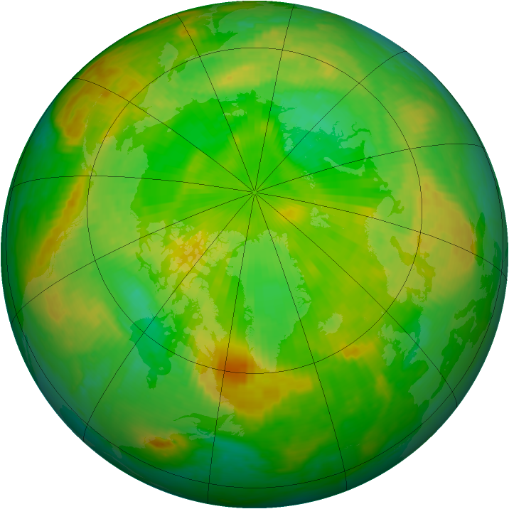 Arctic ozone map for 22 June 2003