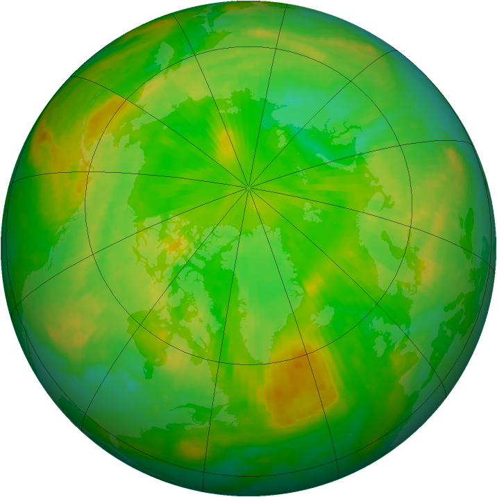 Arctic ozone map for 25 June 2003