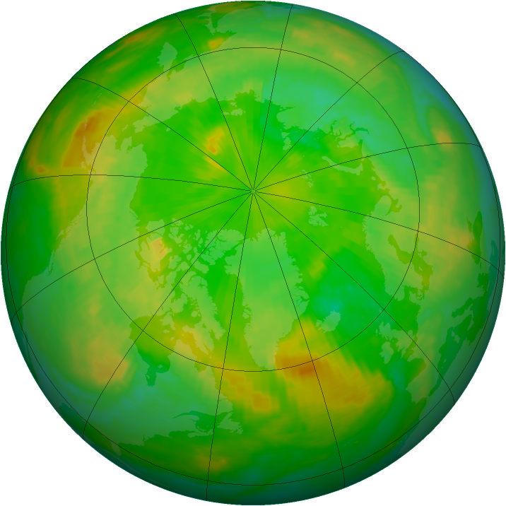 Arctic ozone map for 26 June 2003