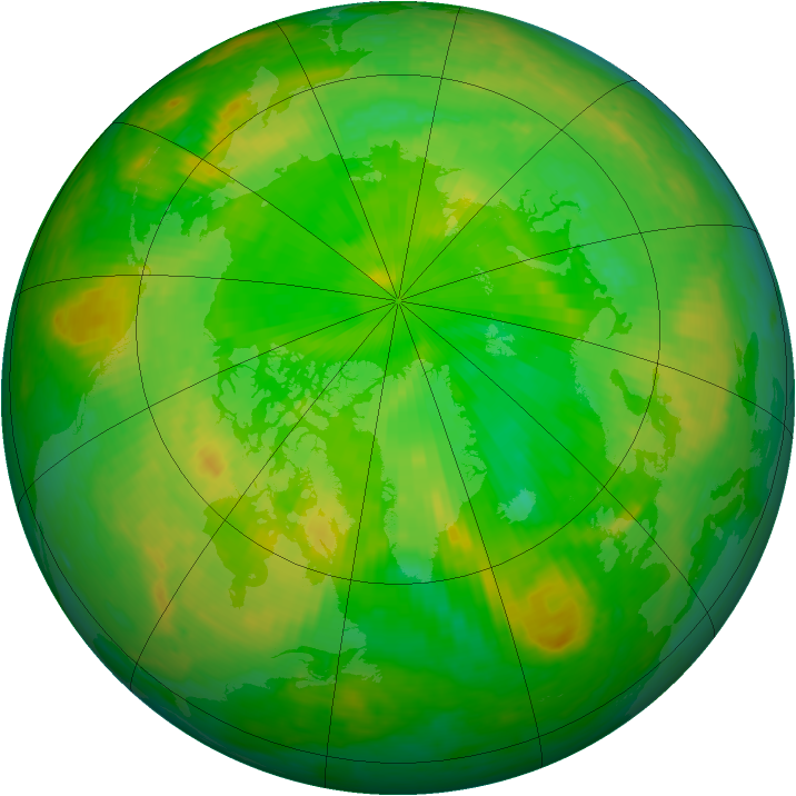 Arctic ozone map for 28 June 2003