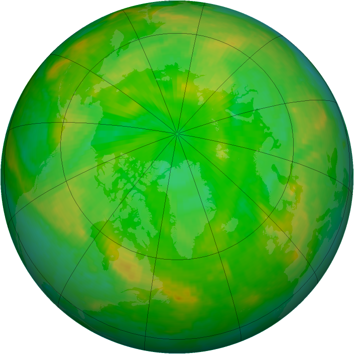 Arctic ozone map for 03 July 2003